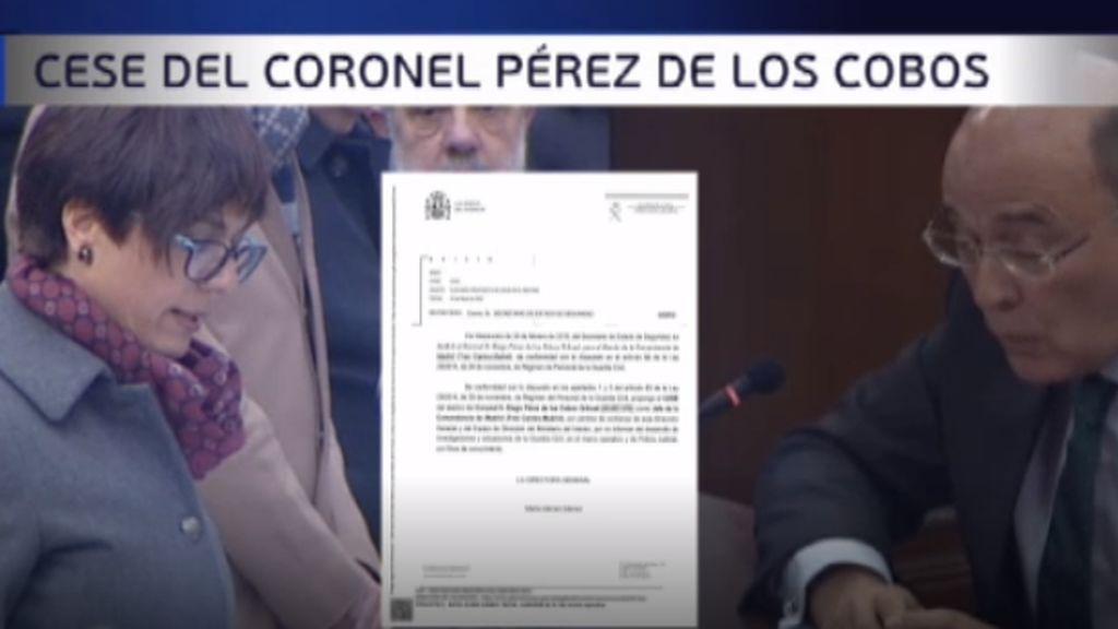 Una carta revela que Grande-Marlaska cesó al coronel Pérez de los Cobos por no informarle de la investigación sobre el 8-M
