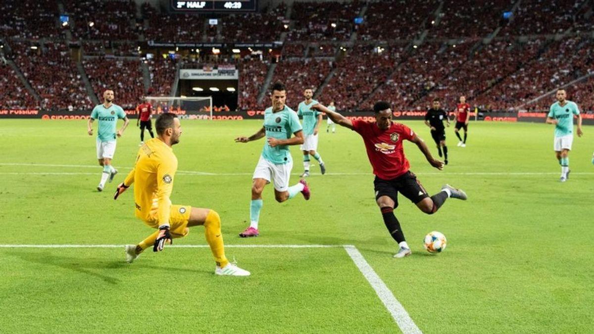 Partido entre el Manchester y el Inter