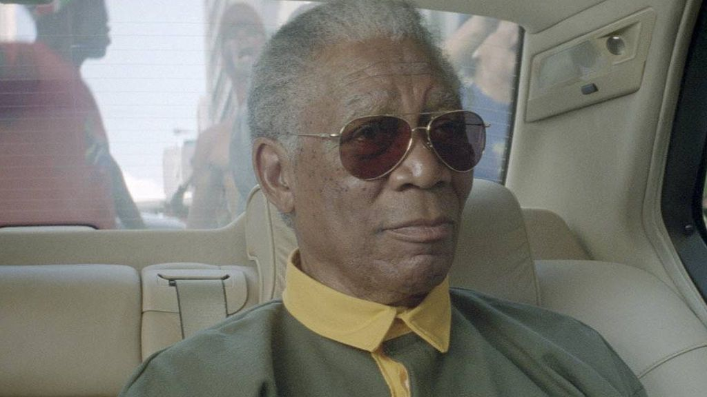 Morgan Freeman interpretando a Mandela en 'Invictus' (2009)