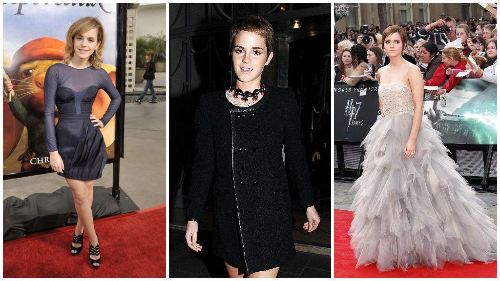 Emma Watson ya adolescente.