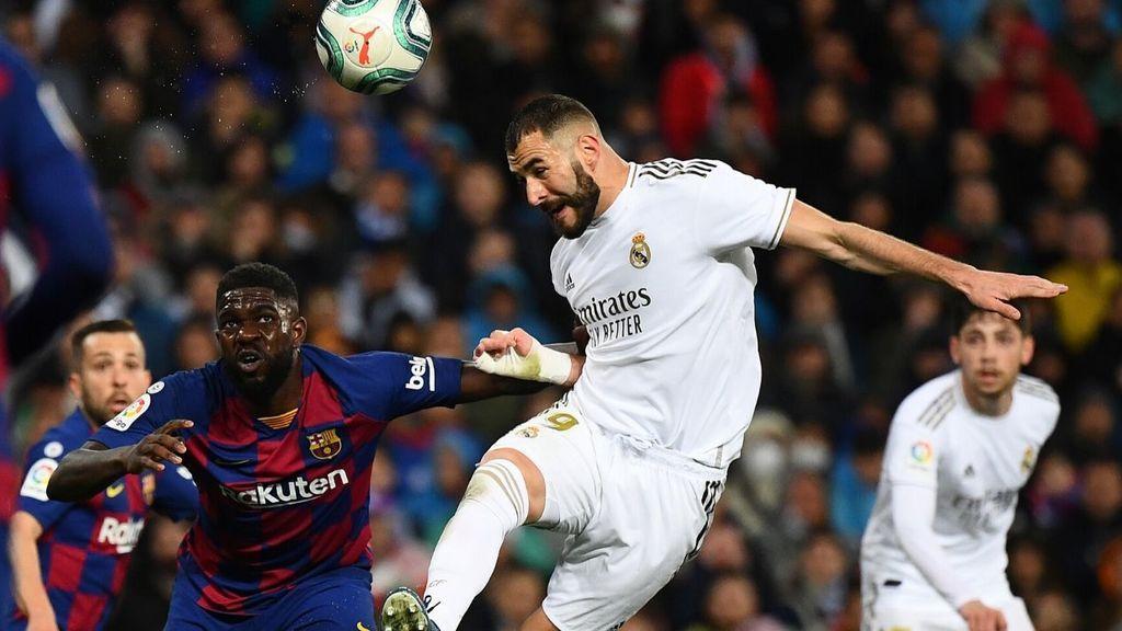 Imagen de un clásico entre Real Madrid y Barcelona