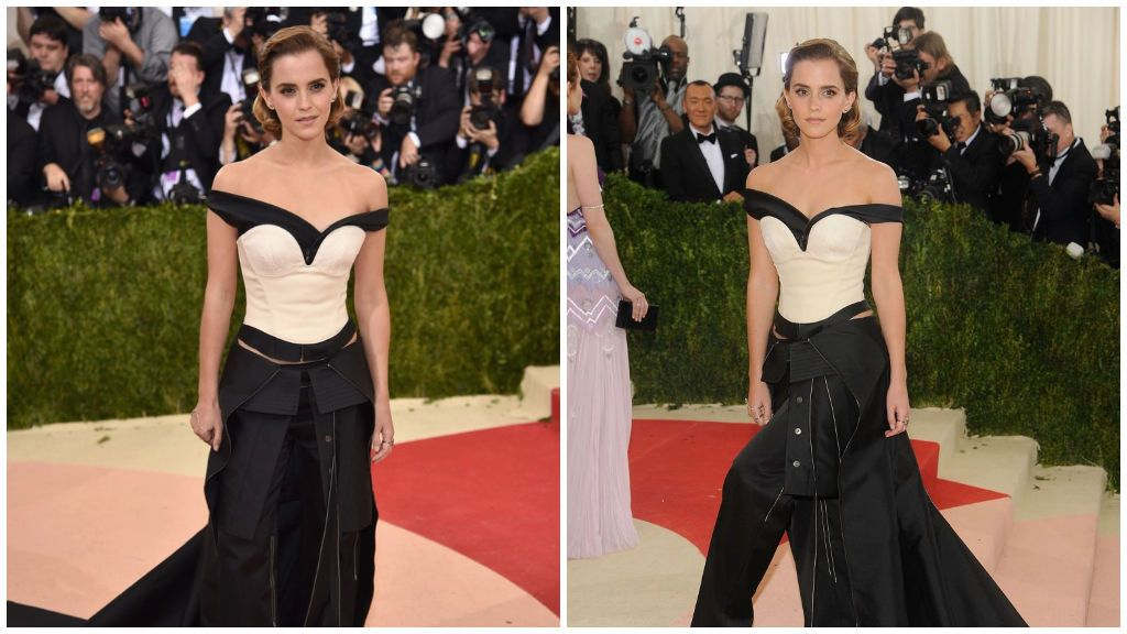 Emma Watson, con su vestido de Calvin Klein en la 'Met Gala'.