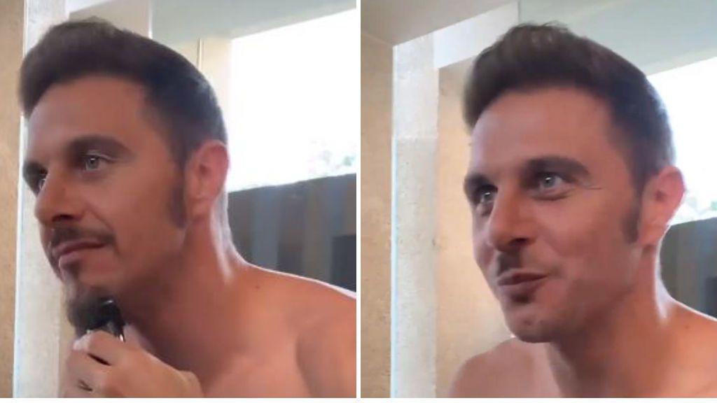 Joaquín hace un show hasta de su barba: empieza recortándola y acaba con bigote 'tipo Hitler'