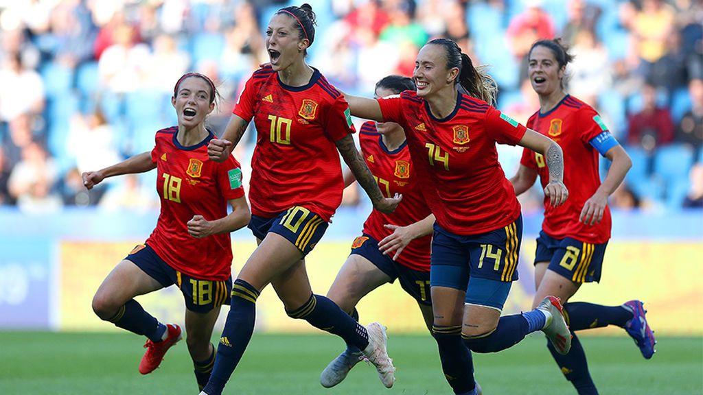 Jugadoras de la selección española femenina