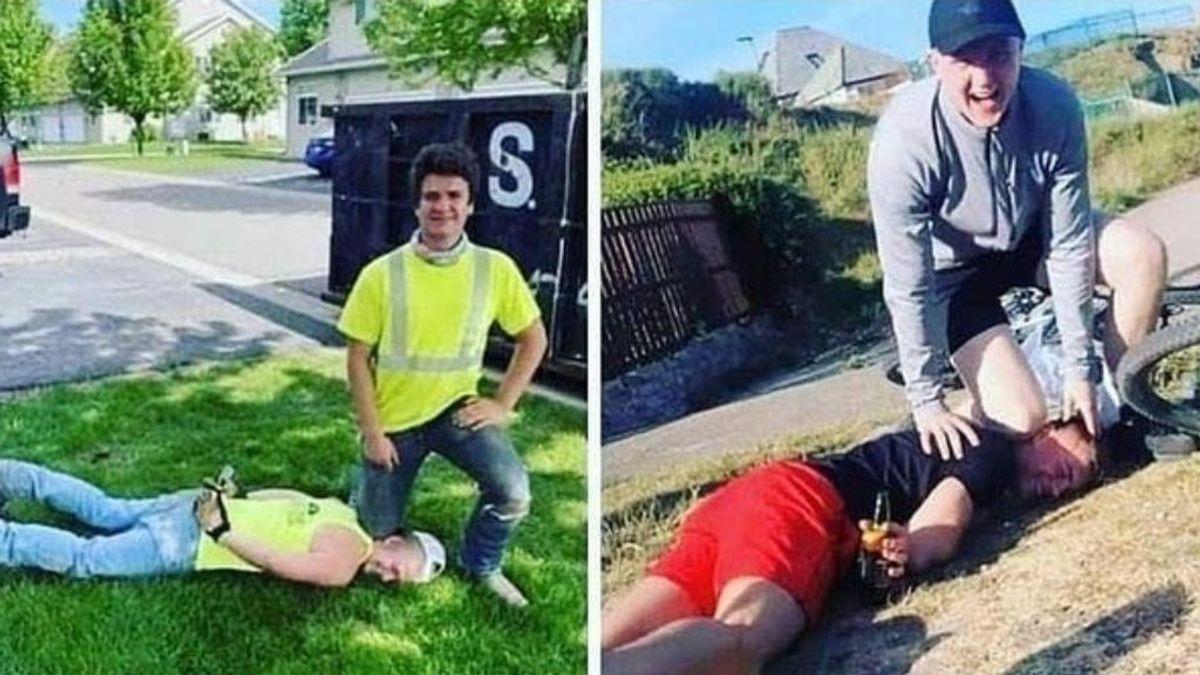 'George Floyd Challenge': el indignante reto viral consistente en posar con la rodilla en el cuello de un amigo
