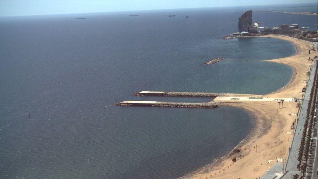 Vistas desde la Torre Mapfre: lugar privilegiado para controlar el aforo de las playas de Barcelona