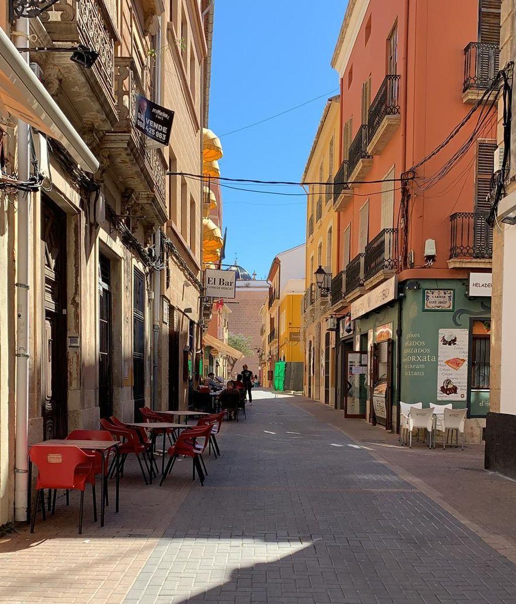 Calle Loreto vacía