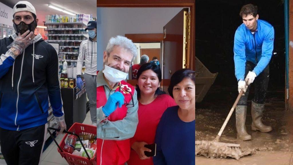 Omar Montes, Nadal, Caprile… famosos que se remangan para ayudar