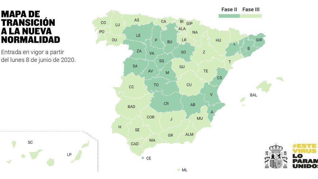 Sanidad da luz verde a todas las propuestas de cambio de fase: media España en fase 3, y Madrid y Barcelona en 2