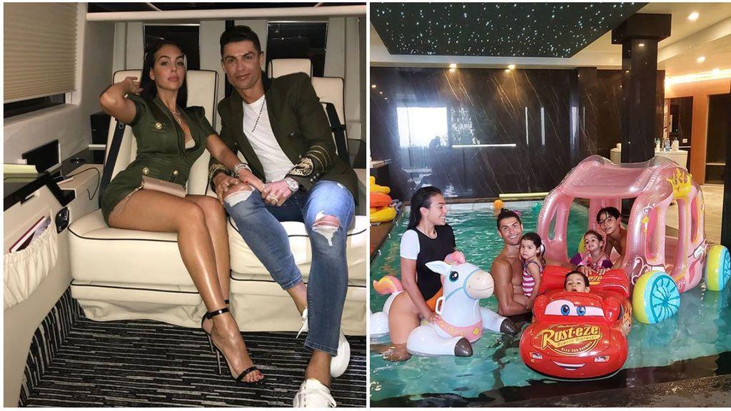 """Cristiano Ronaldo y Georgina se disfrazan de Aladín y de Power Rangers para celebrar el cumpleaños de sus hijos: """"Os queremos hasta el fin del mundo"""""""