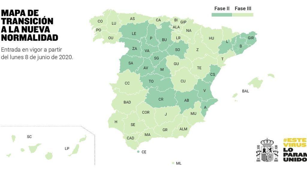 Sanidad da luz verde a todas las propuestas de cambio de fase: media España en fase 3 y el resto en fase 2