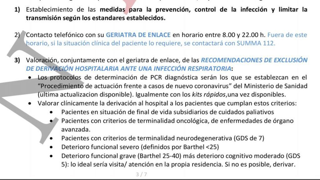 """El 24 de marzo se habla de """"recomendaciones de exclusión"""""""