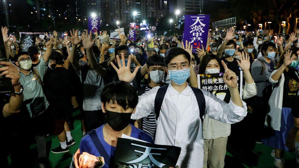 Concentración en Hong Kong