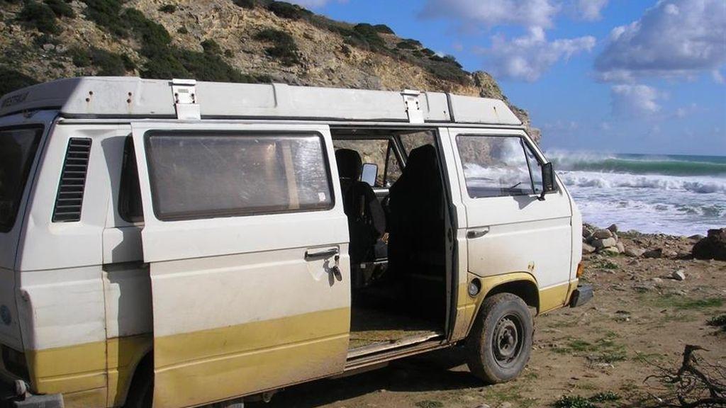 La caravana en la que vivió el sospechoso de matar a Madeleine