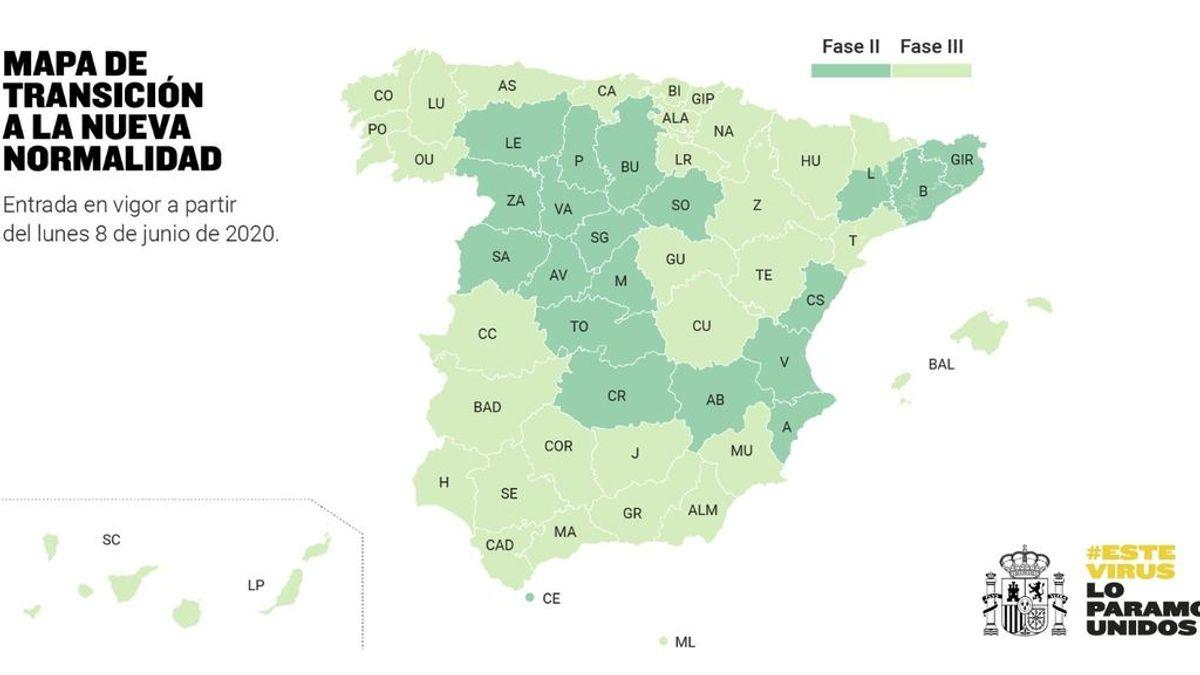Las comunidades que pasan a la fase 3, la etapa final de la desescalada en España
