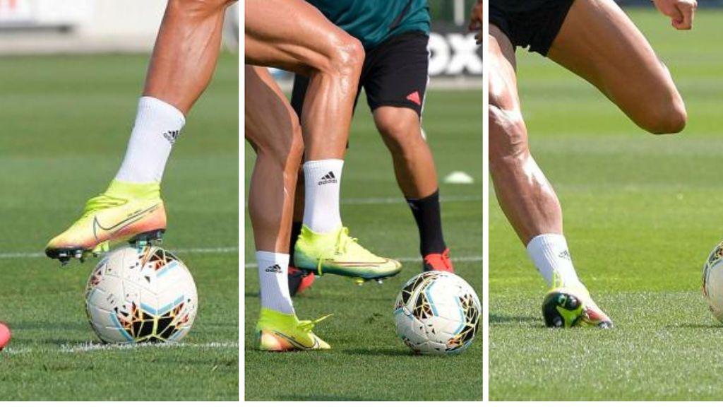 Detalle en las botas de Cristiano Ronaldo