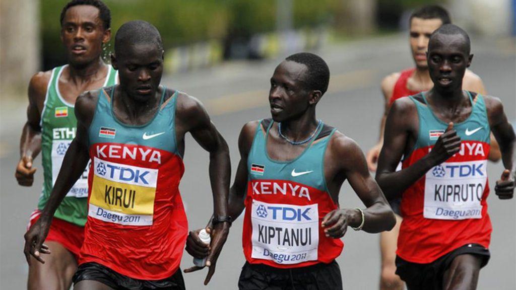 Atletas de Kenia en una maratón