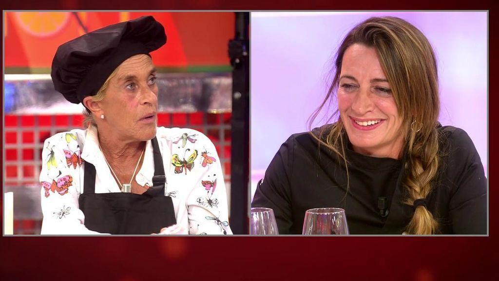 La mala contestación de Chelo cuando Jorge Javier insinúa que ha podido tontear con la chef Begoña Rodrigo