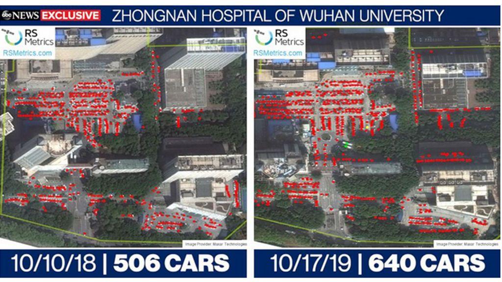 imagenes por satelite de wuhan