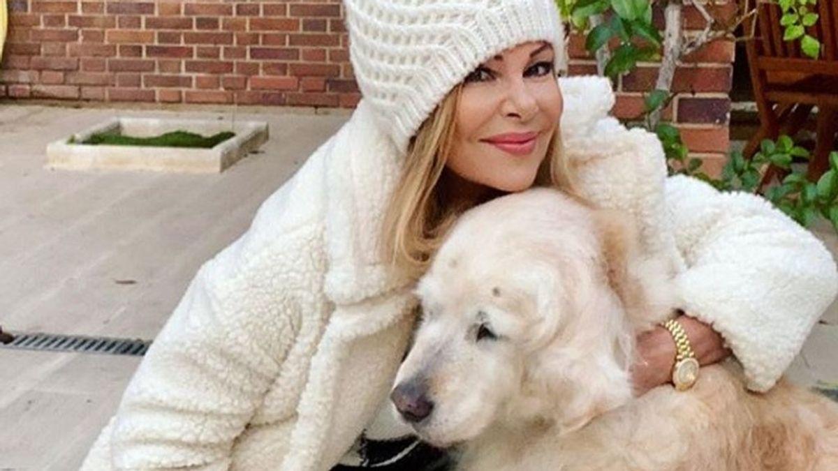 Ana Obregón llora la muerte de Luna, la perra de su hijo Aless