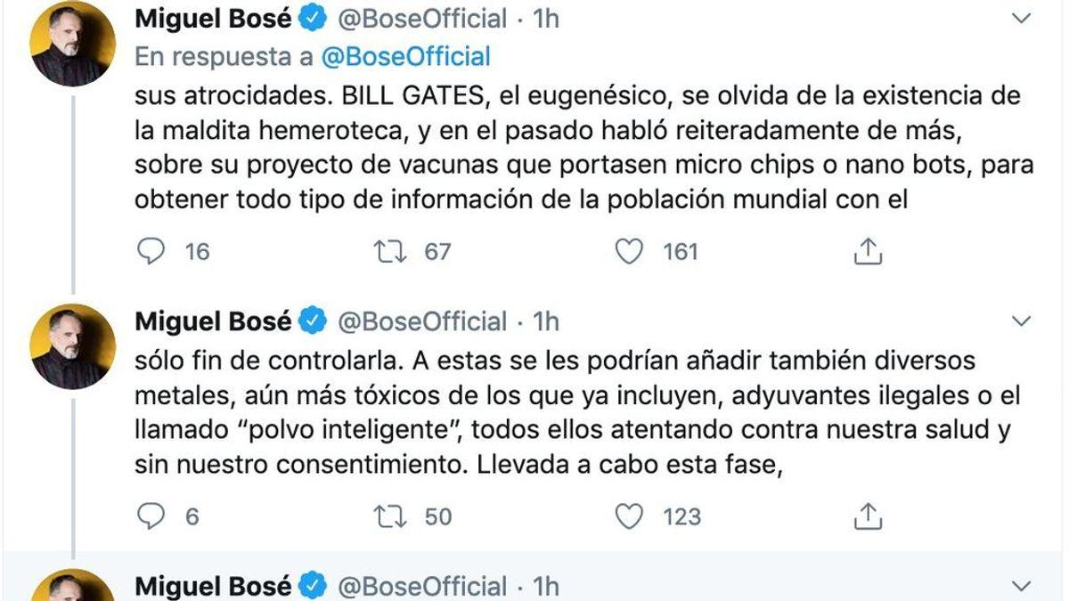 Miguel Bosé y su lucha contra las vacunas para el COVID-19