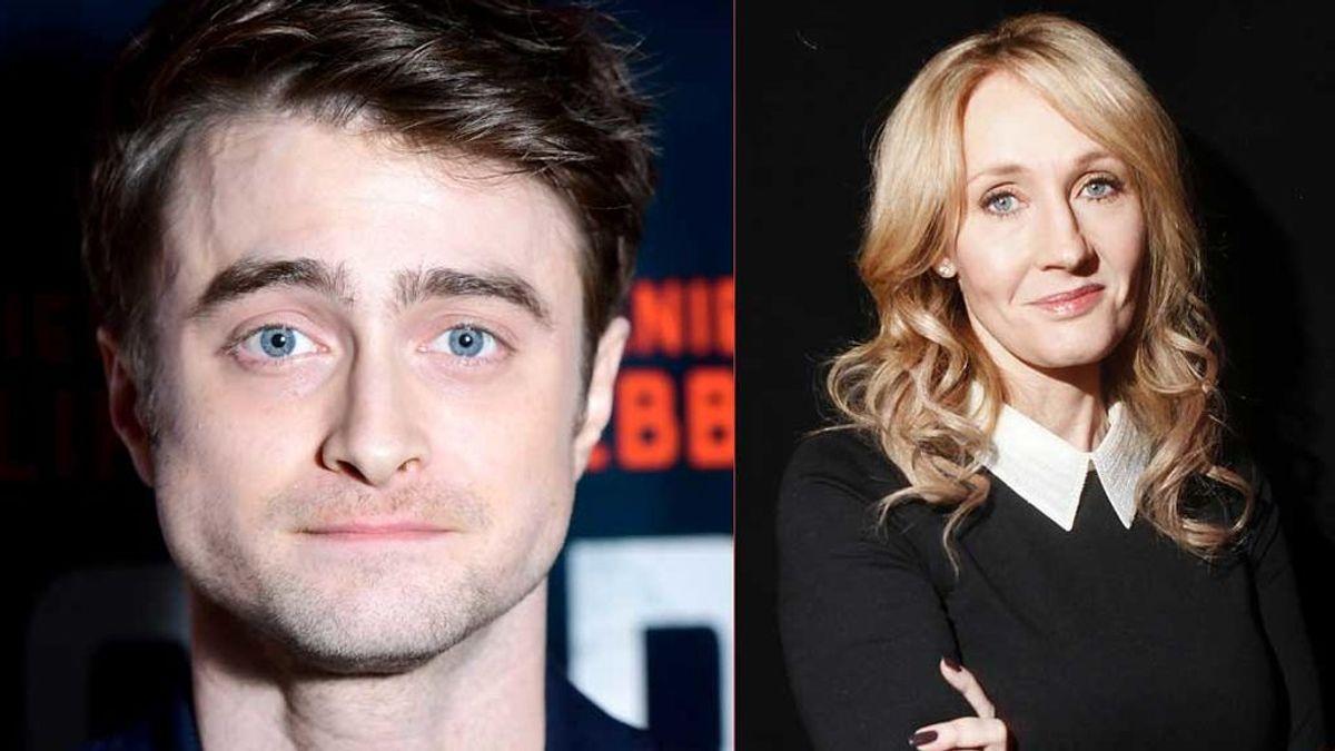 Daniel Radcliffe con JK Rowling (Harry Potter)