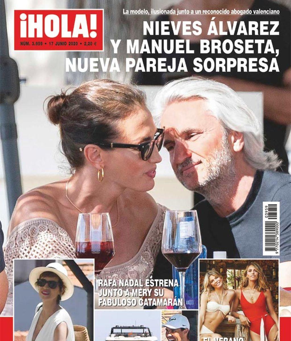 Nieves Álvarez junto a Manuel Broseta en la portada de Hola
