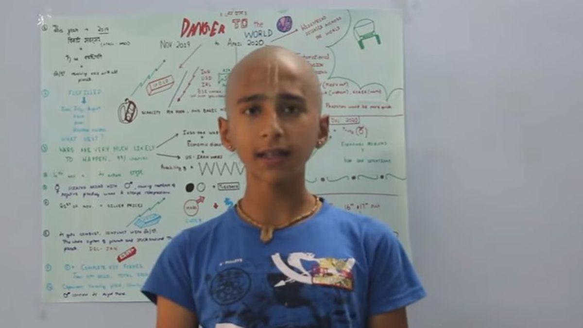 Abhigya Anand, en el vido con la supuesta predicción sobre el coronavirus