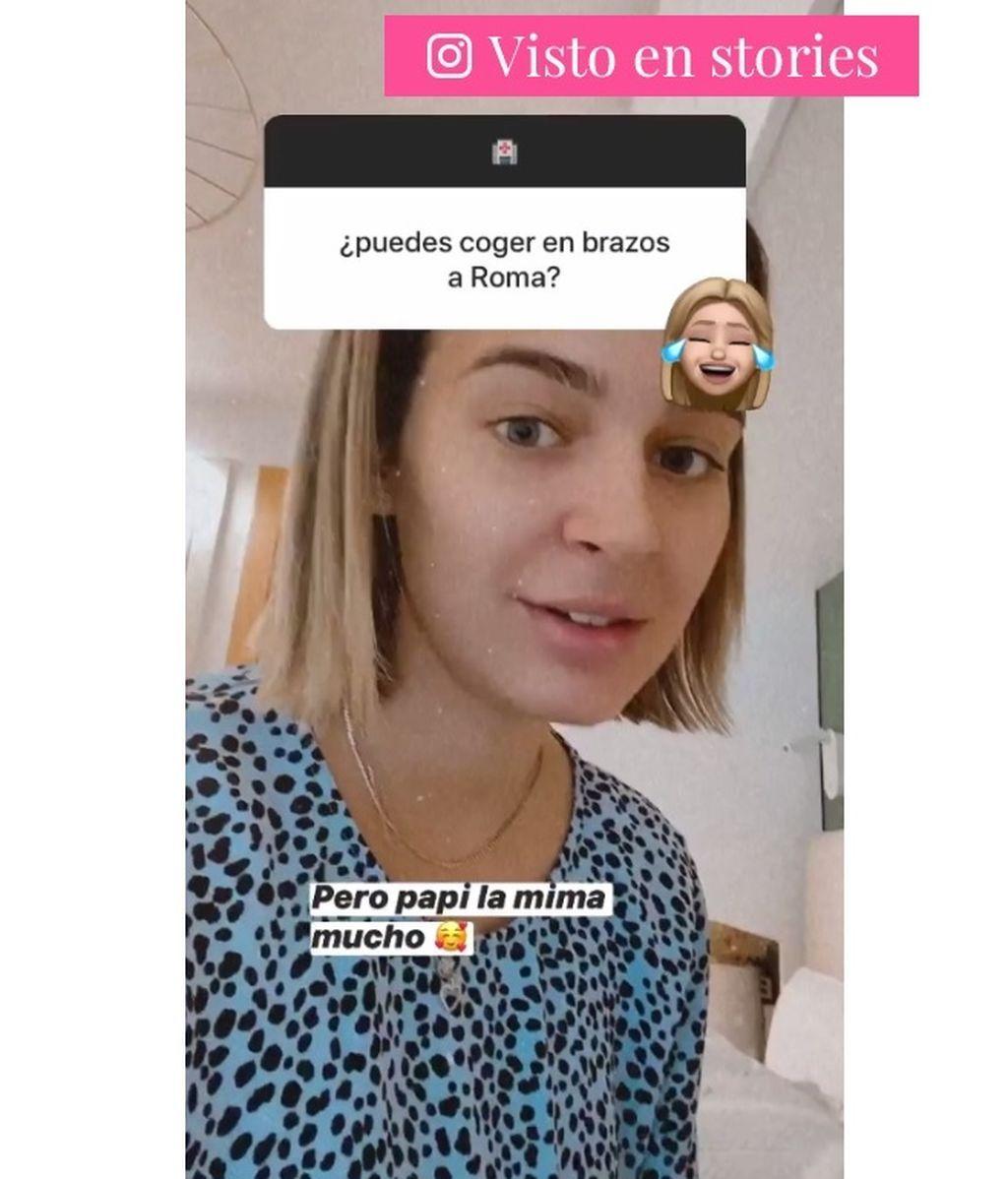 Laura reconoce no poder coger a Roma tras su operación