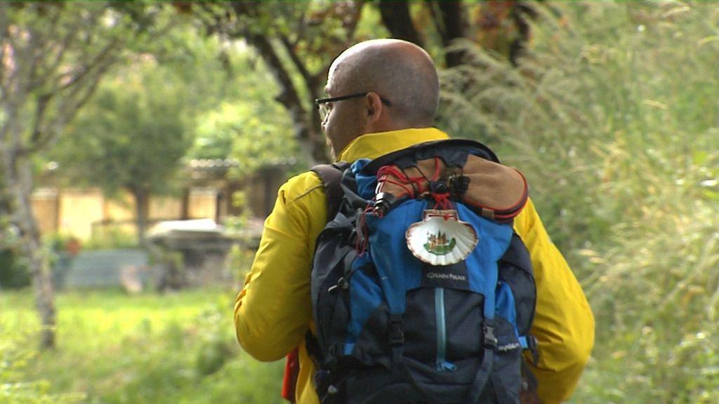 Lorenzo ha recorrido, en cuatro etapas, los últimos cien kilómetros del Camino Primitivo