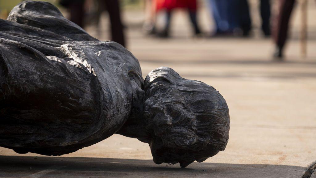Vandalizan varias estatuas de Cristóbal Colón durante las protestas raciales en EE.UU.