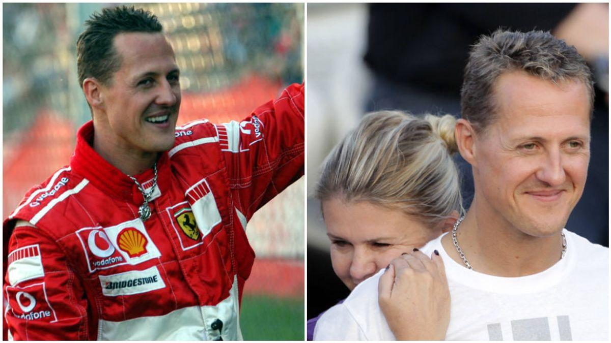 Michael Schumacher, en Ferrari y con su mujer Corinna.