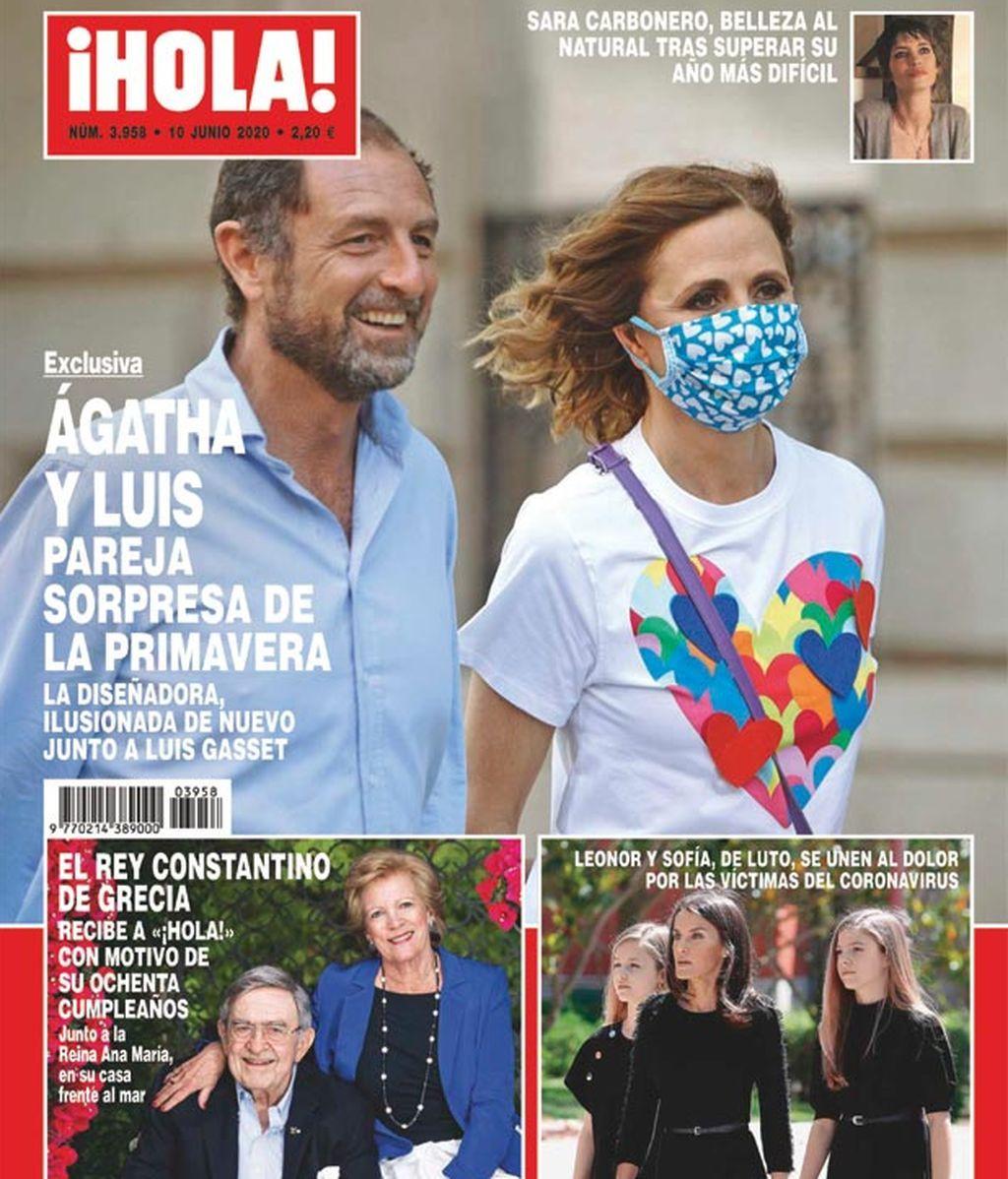 Agatha Ruiz de la Prada y Luis Gasset en la portada de ¡Hola!