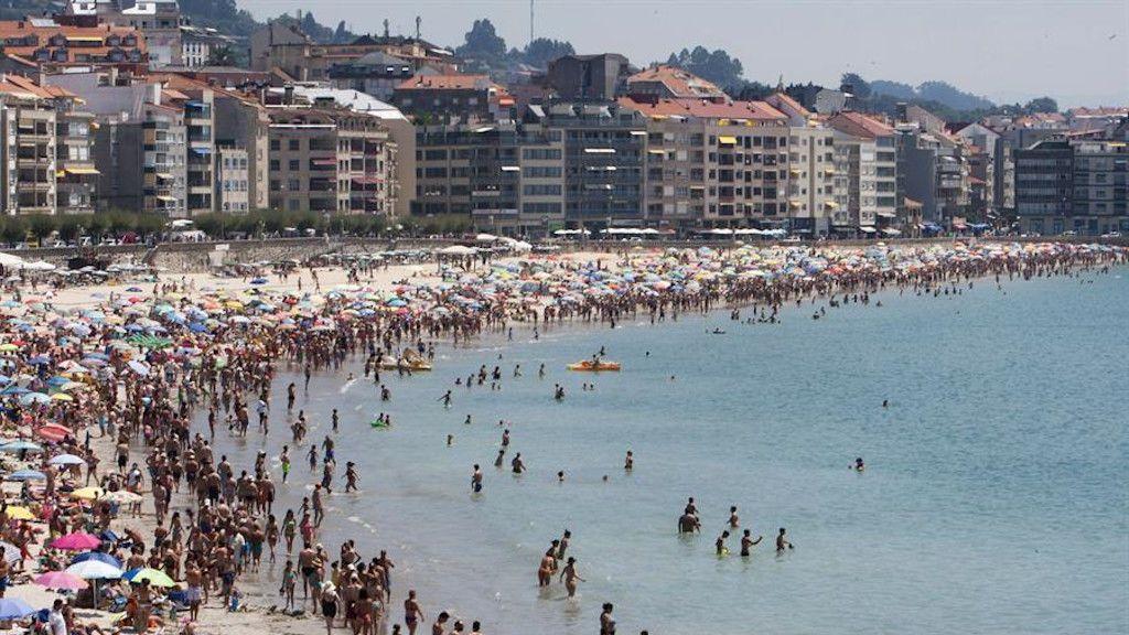 Imagen de la playa de Silgar, en Sanxenxo