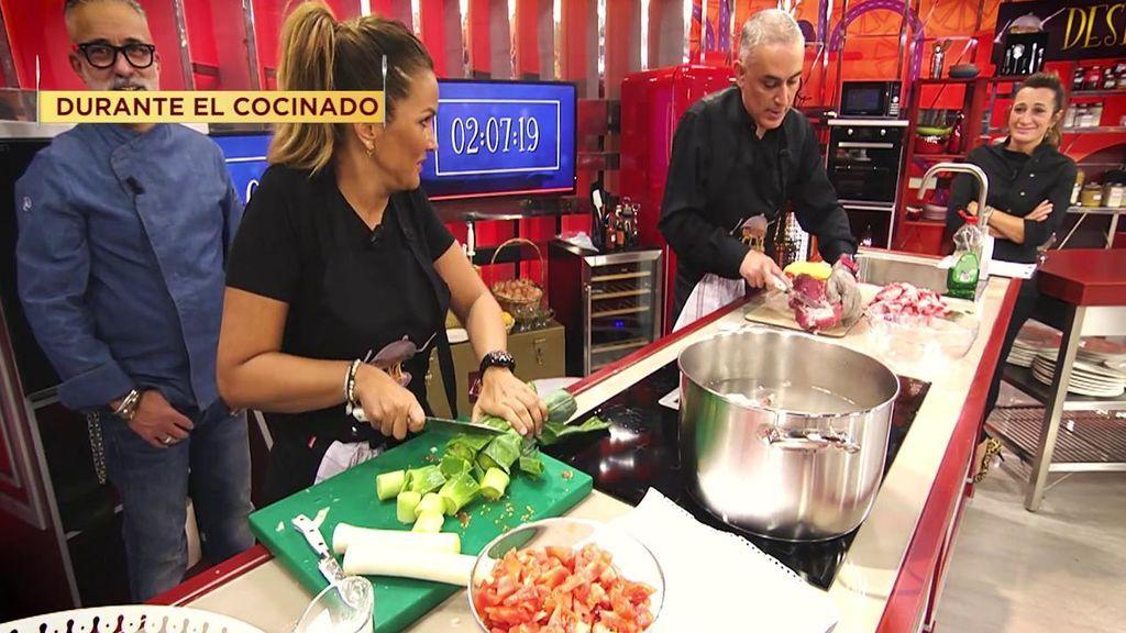 La amistad de Marta y Kiko se resquebraja durante el cocinado