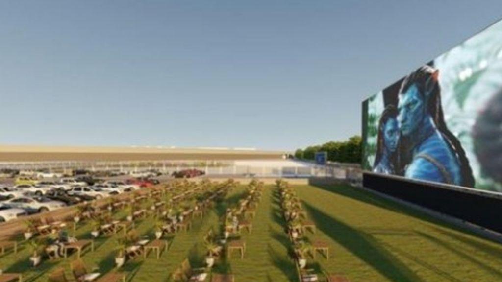 Alicante inaugura el autocine más grande de Europa.