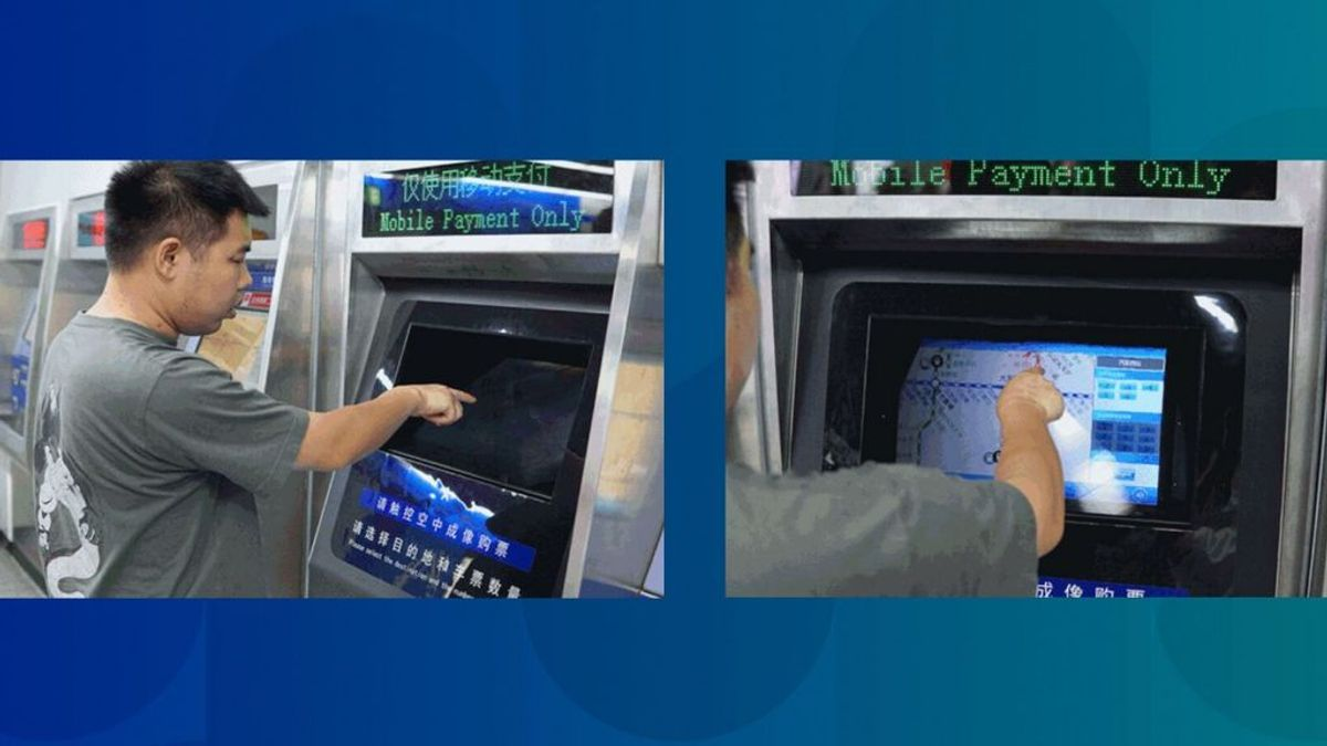 Una estación de metro de China permite comprar el billete desde un holograma con botones virtuales