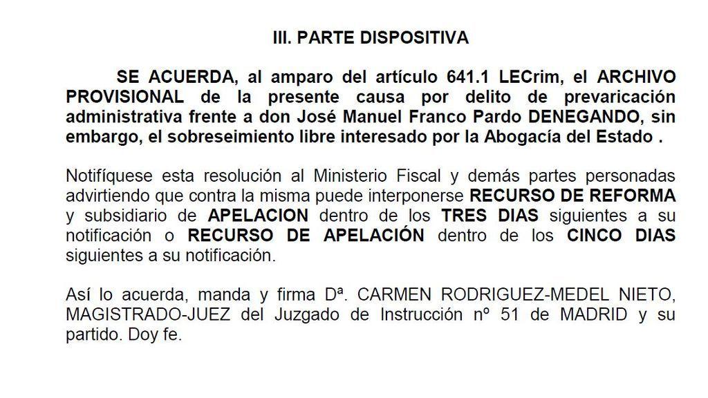 Documento: El auto íntegro de la jueza del 8-M que archiva la causa