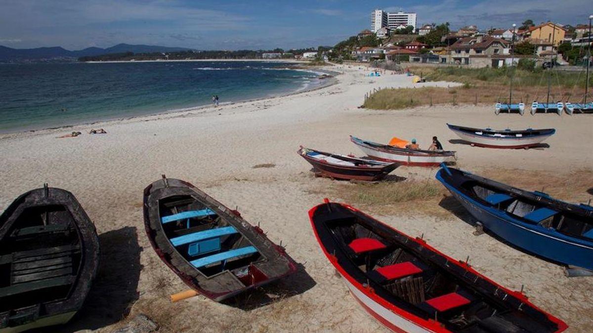 Vista general de la playa de A Fontaiña, Vigo