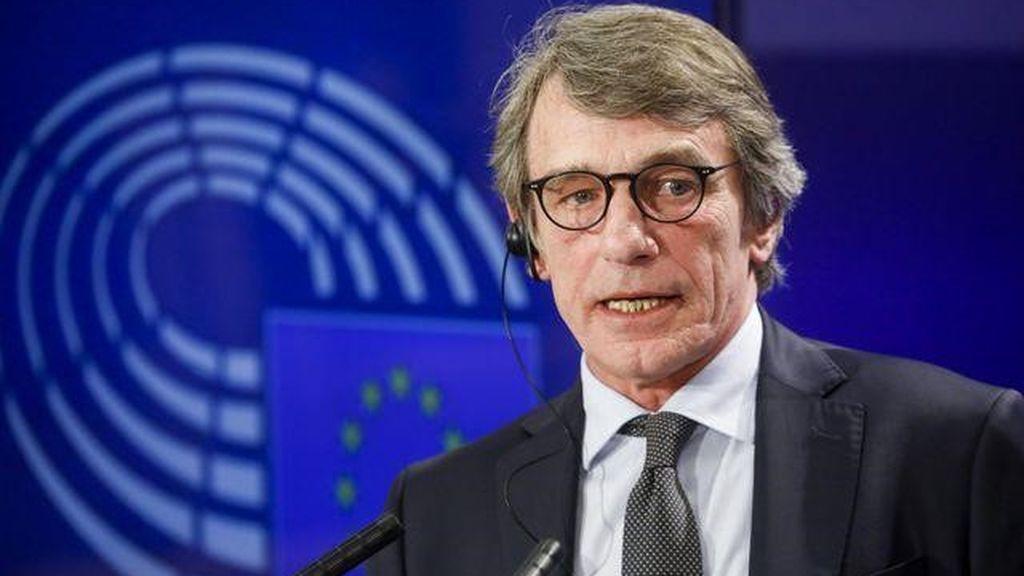 """El presidente del Parlamento Europeo dice que el ingreso mínimo vital aprobado en España es un """"claro ejemplo"""" de lo que necesita Europa"""