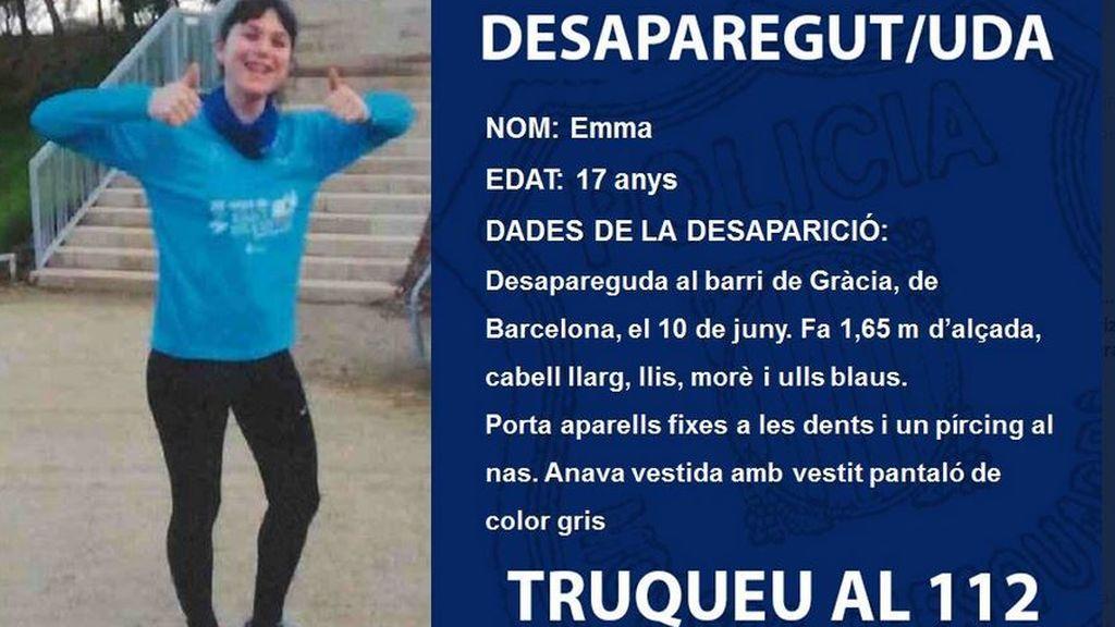Encuentran sana y salva a Emma, la menor desaparecida en Barcelona
