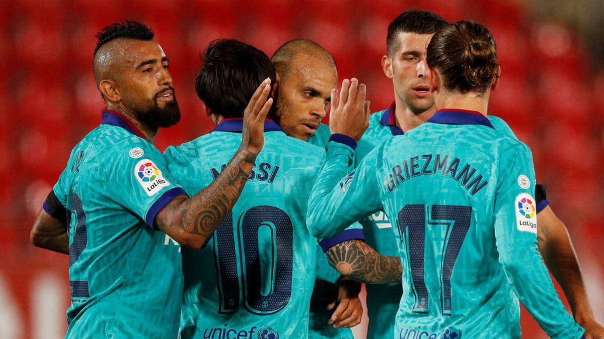 Al Barça le sobra un tiempo en Mallorca: Arturo Vidal y Braithwaite sentenciaron y Alba se unió a la fiesta