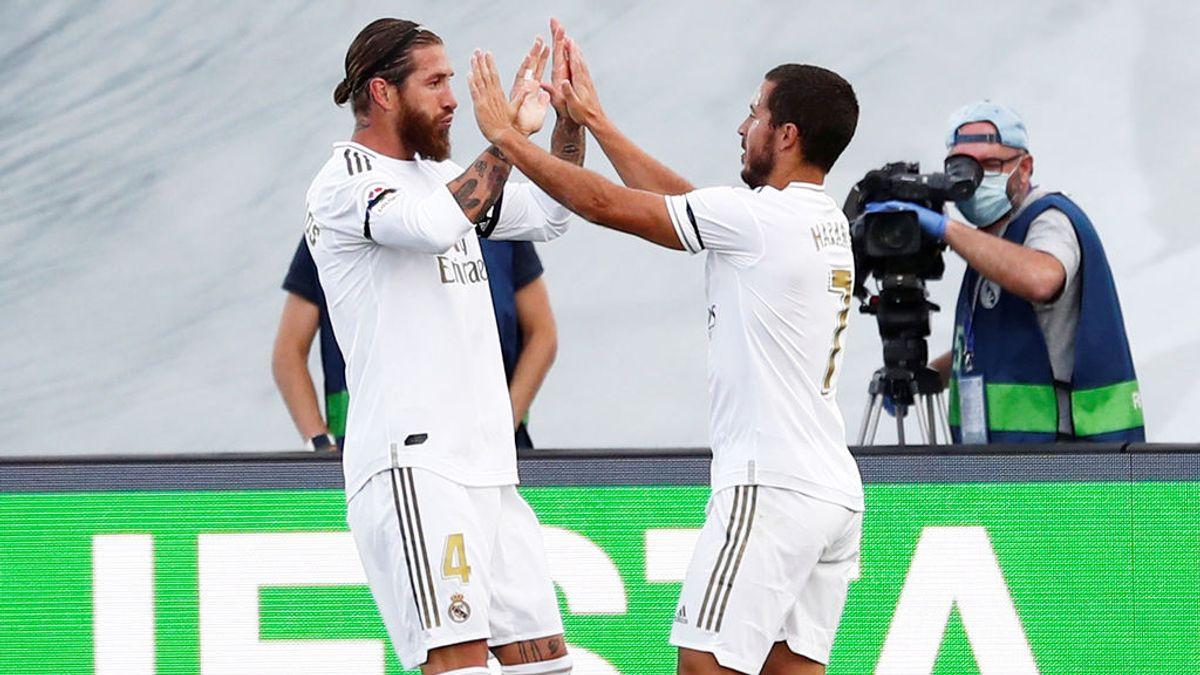 El Real Madrid, tres puntos en poco más que un entrenamiento ante el Eibar (3-1)