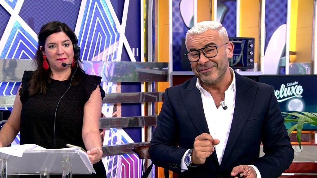 Jorge Javier Vázquez y la directora del 'Deluxe'