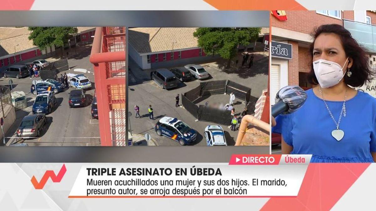 """La conmoción de una vecina de María Belén, la mujer asesinada en Úbeda: """"De repente, escuché un impacto seco"""""""