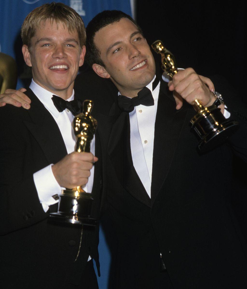 Damon y Affleck con sus Oscar