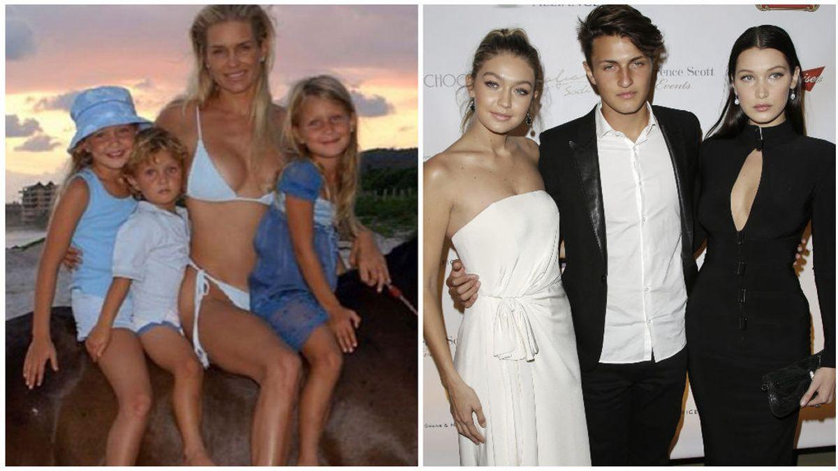 Así han cambiado los hermanos Hadid: Anwar, Gigi y Bella ya derrochaban estilo de pequeños.