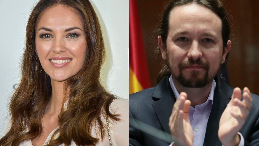 Helen Lindes y Pablo Iglesias