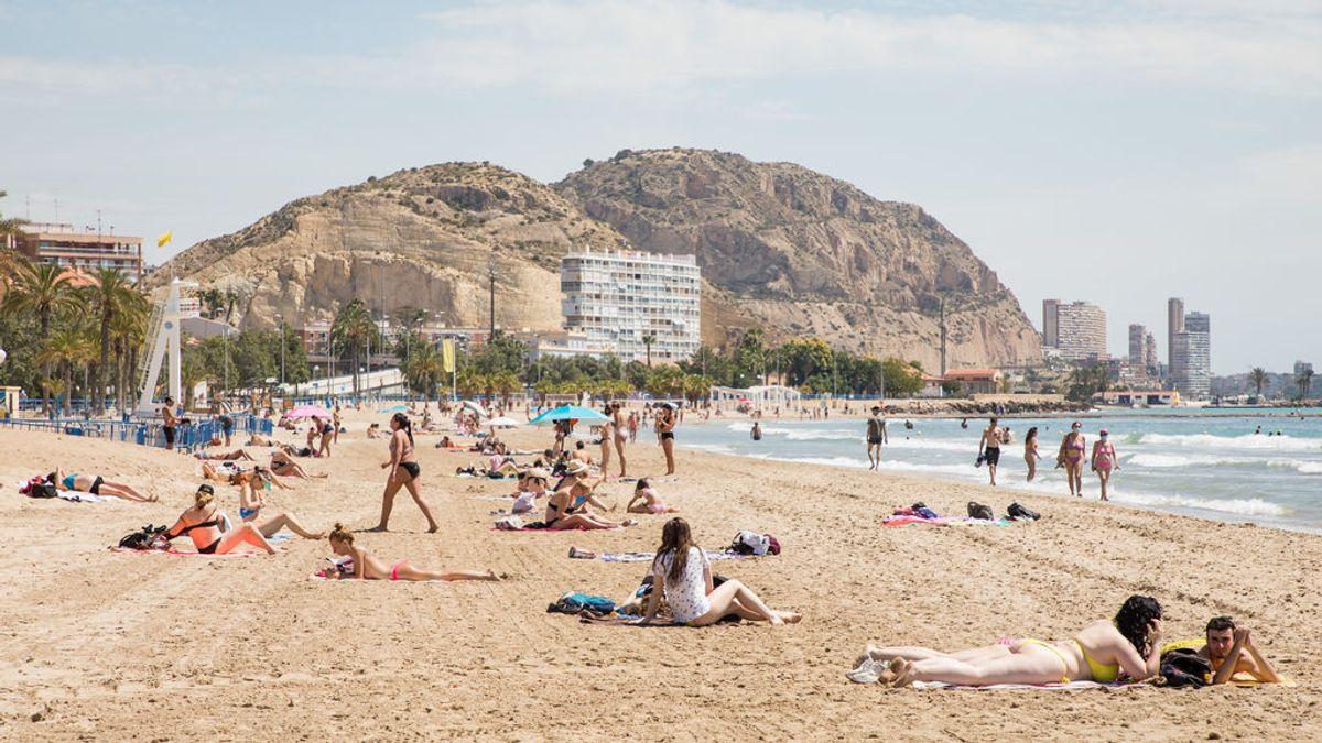Playa del Postiguet, en Alicante