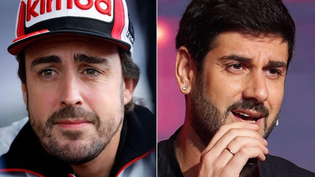 Melendi y Fernando Alonso
